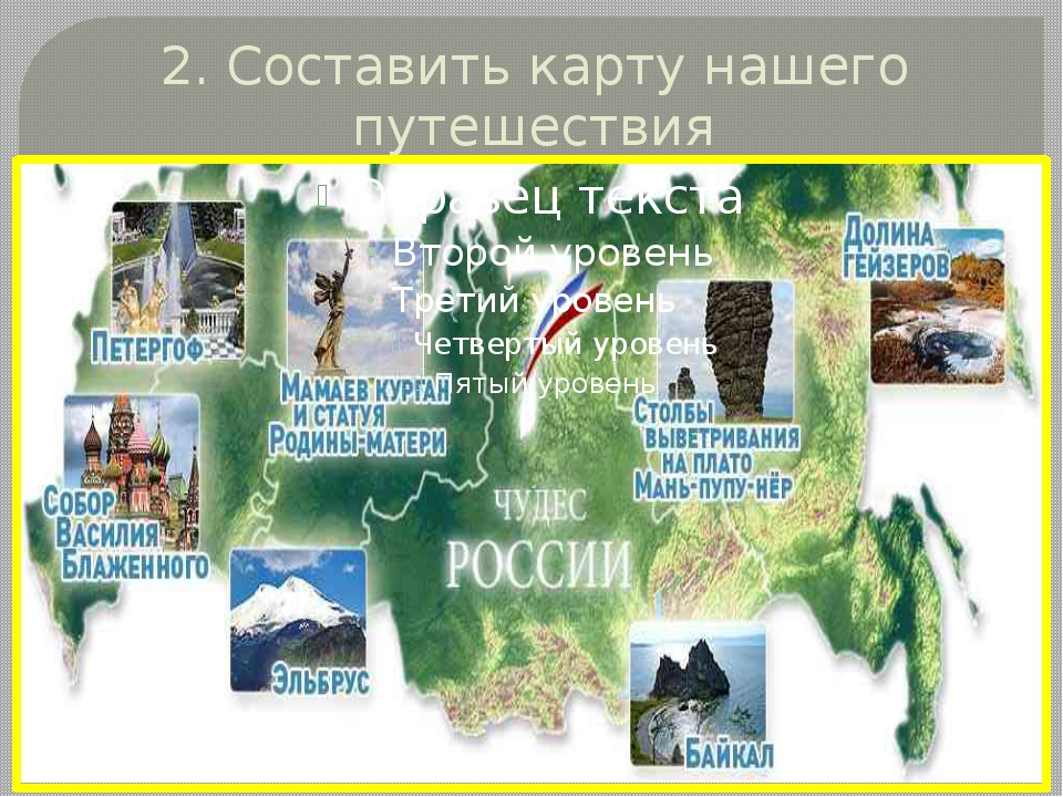 2. Составить карту нашего путешествия