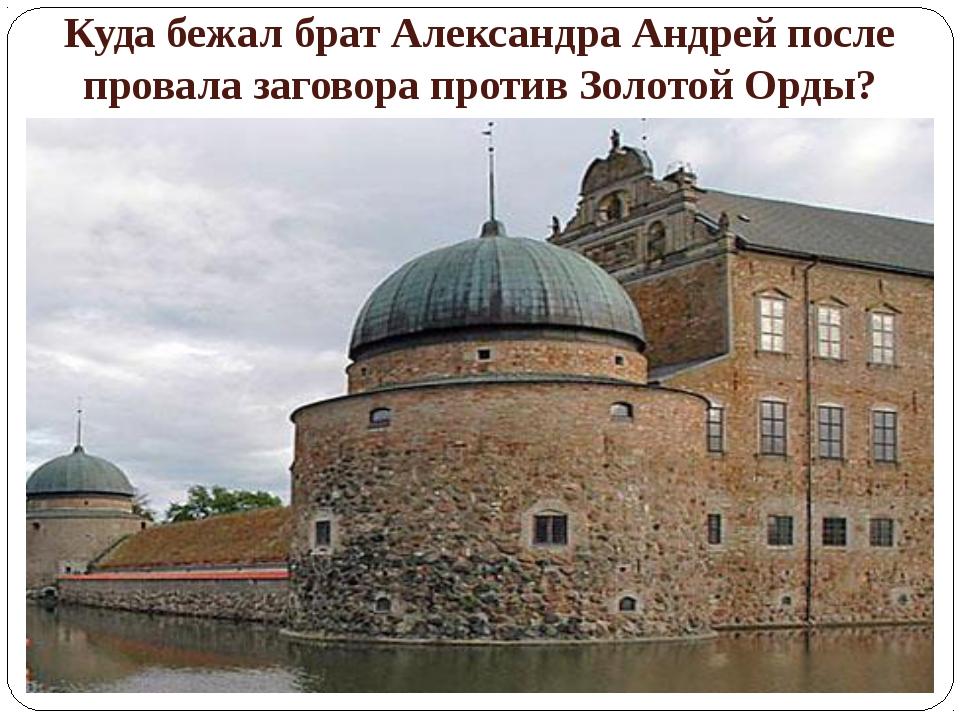 Куда бежал брат Александра Андрей после провала заговора против Золотой Орды?