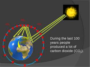 During the last 100 years people produced a lot of carbon dioxide (CO2). CO2