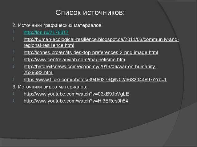 Список источников: 2. Источники графических материалов: http://lori.ru/217631...