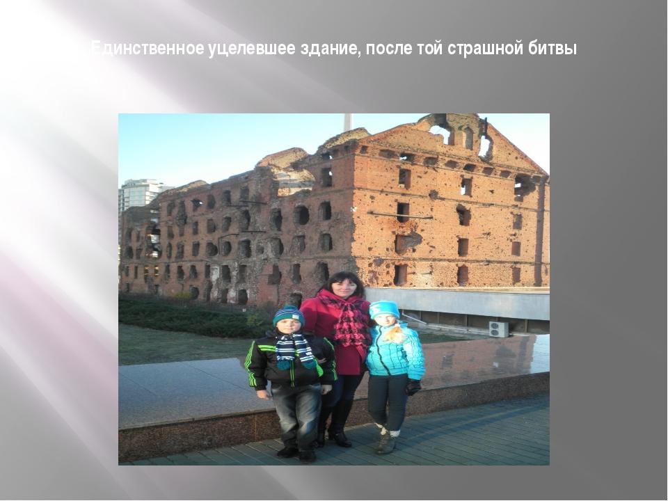 Единственное уцелевшее здание, после той страшной битвы