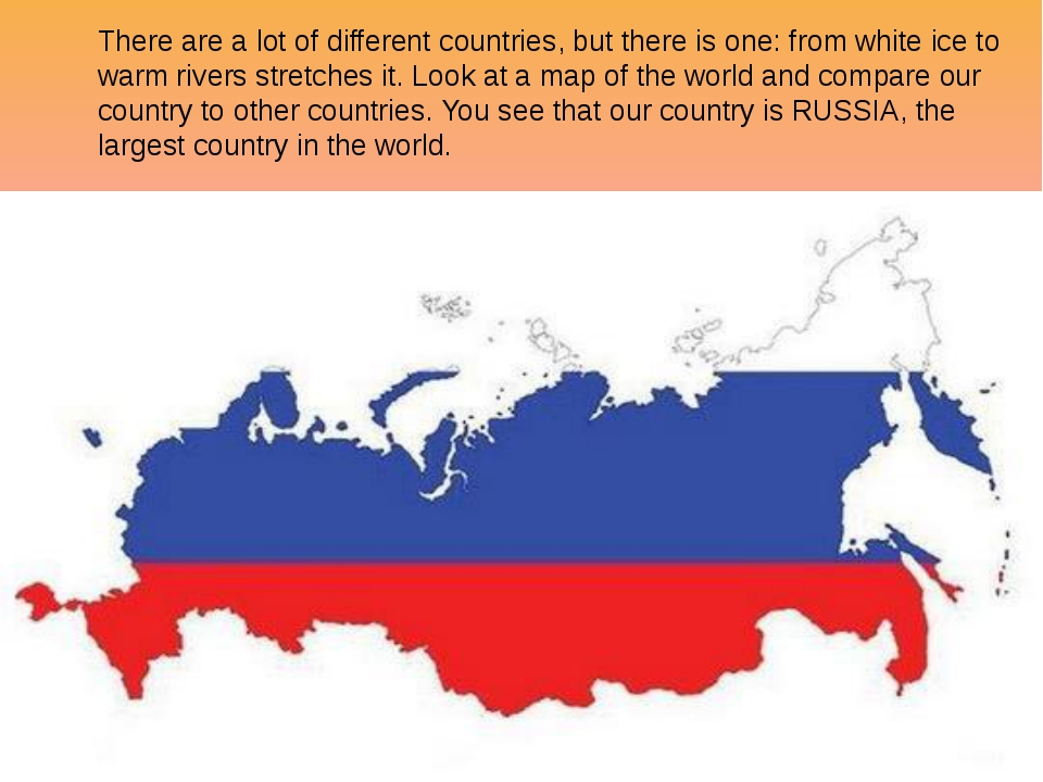 There are a lot of different countries, but there is one: from white ice to w...