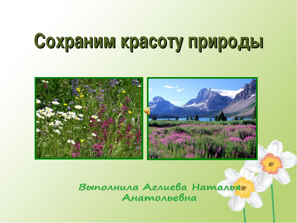 Чтобы сберечь красоту природы