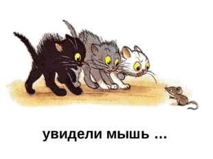 увидели мышь …
