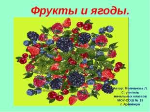 Фрукты и ягоды. Автор: Молчанова Л. С. учитель начальных классов МОУ-СОШ № 19