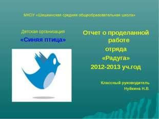 МКОУ «Шишкинская средняя общеобразовательная школа» Детская организация «Синя