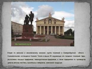 Вторая по величине и экономическому значению группа поселений в Екатеринбургс