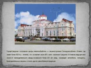 Города Удмуртии – в основном центры металлообработки и машиностроения. Столиц