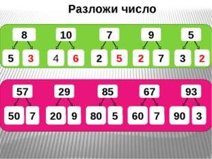 Разложи число 8 10 7 9 5 6 4 2 5 2 7 2 3 3 5 57 29 85 67 93 7 50 20 9 80 5 6