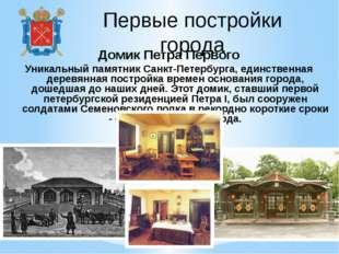 Первые постройки города Домик Петра Первого Уникальный памятник Санкт-Петербу