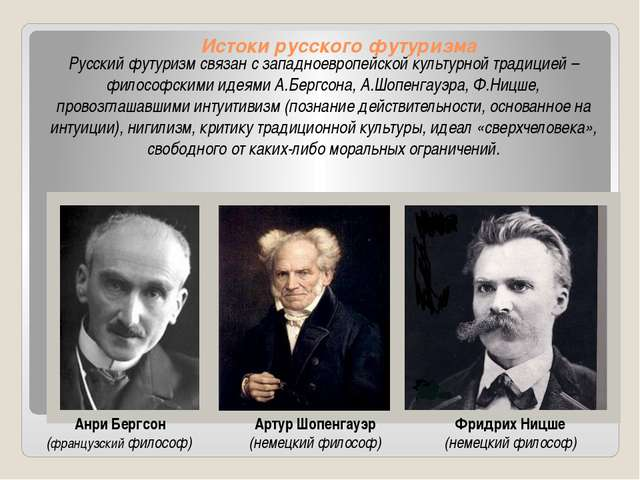 Истоки русского футуризма Русский футуризм связан с западноевропейской культу...