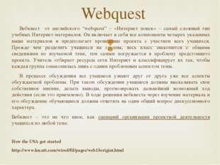 """Вебквест от английского """"webquest"""" – «Интернет поиск» – самый сложный тип уч"""