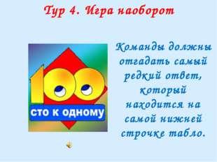 """Тур 5. """"Большая игра"""" 1 2 3 4 5 Булочник, кондитер 40 Всеми, разноцветными 40"""
