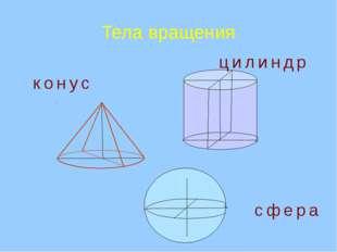 Тела вращения конус сфера цилиндр