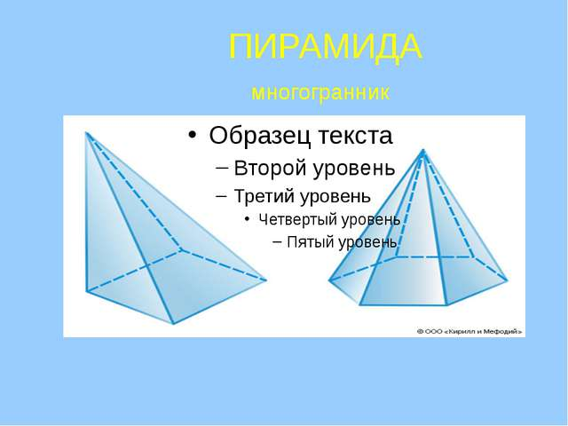 ПИРАМИДА многогранник