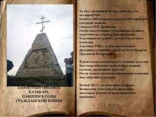 За два с половиной месяца боёв августа– октябрея1918 г. погибло 2460 рядовых