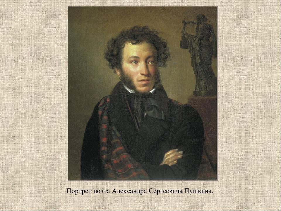 Портрет поэта Александра Сергеевича Пушкина.