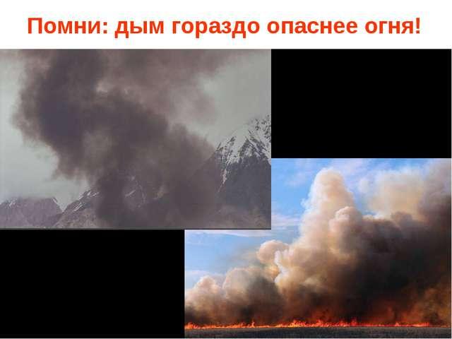 Помни: дым гораздо опаснее огня!