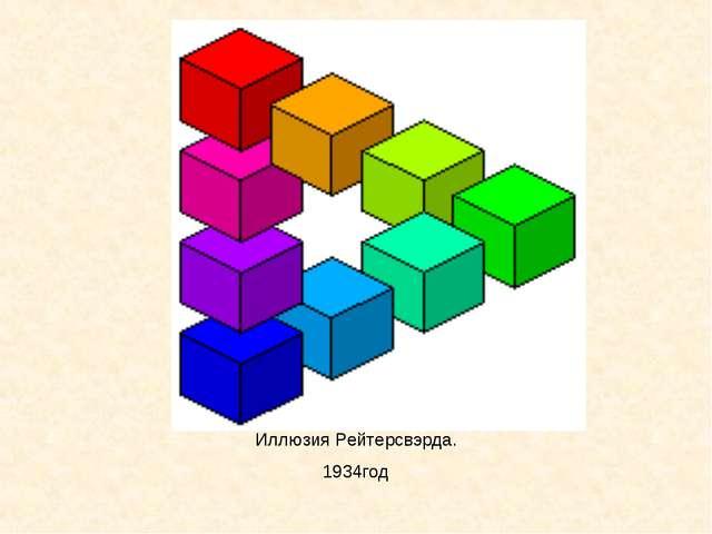 Иллюзия Рейтерсвэрда. 1934год