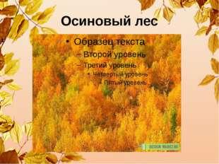 Осиновый лес