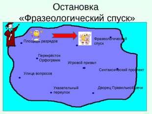 Площадь разрядов Перекрёсток Орфограмм Указательный переулок Улица вопросов Д