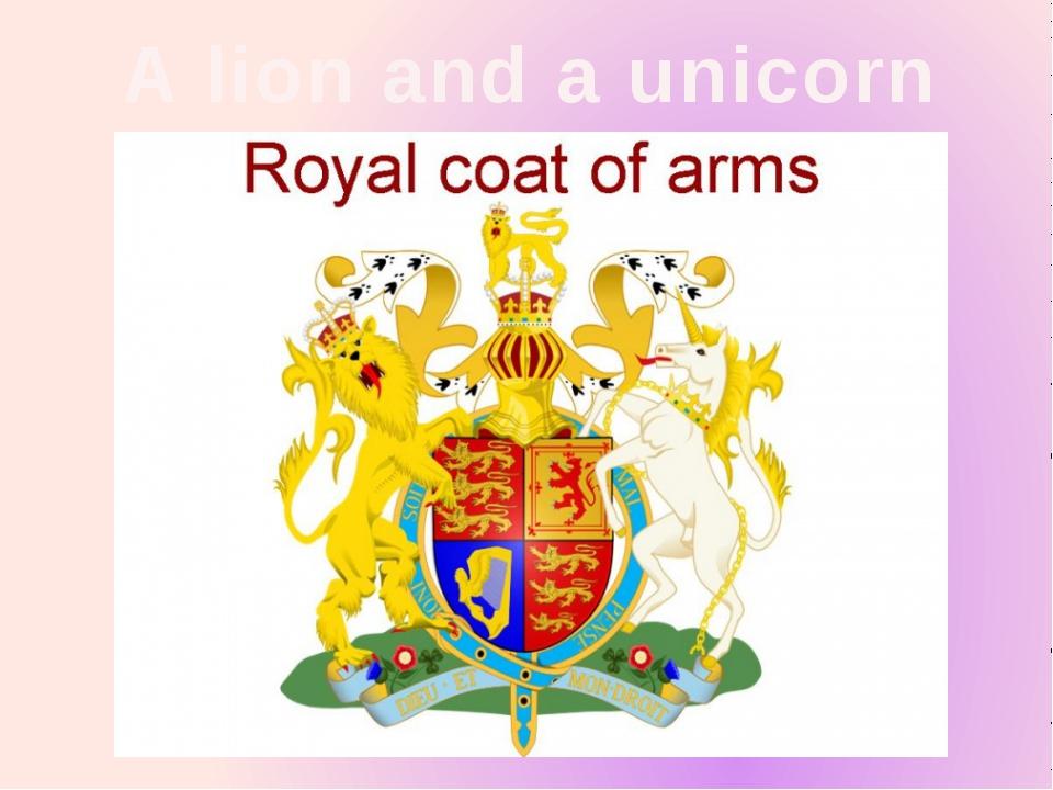 A lion and a unicorn