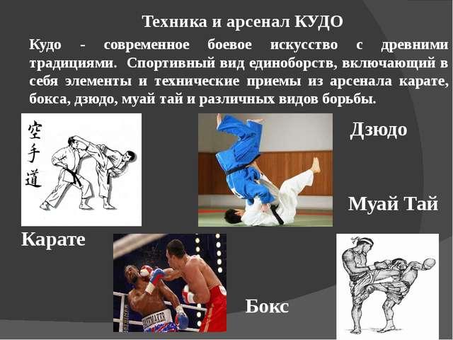Кудо - современное боевое искусство с древними традициями. Спортивный вид еди...