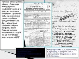 Наиболее активно Шолохов общался с Ермаковым между двумя его отсидками в тюрь