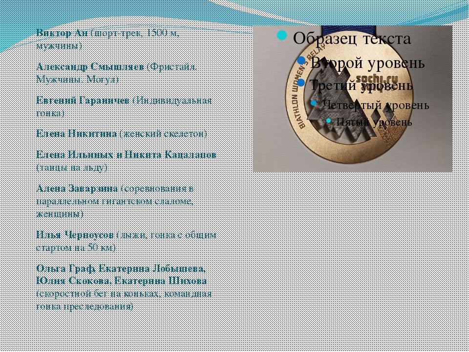 Виктор Ан (шорт-трек, 1500 м, мужчины) Александр Смышляев (Фристайл. Мужчины...