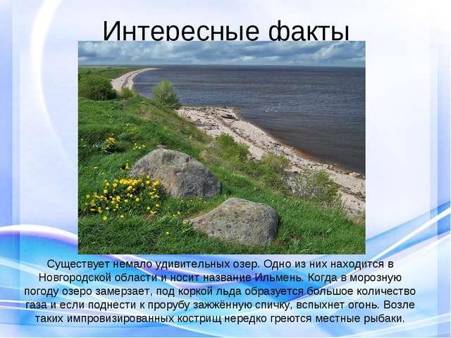 Интересные факты Существует немало удивительных озер. Одно из них находится в...