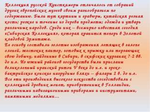 Коллекция русской Кунсткамеры отличалось от собраний других европейских музее