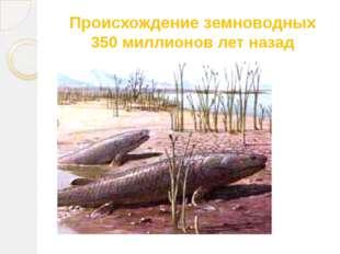 Происхождение земноводных 350 миллионов лет назад