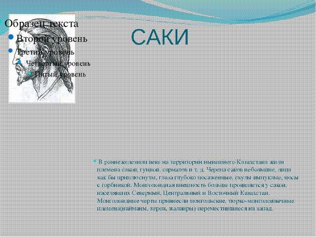 САКИ В раннежелезном веке на территории нынешнего Казахстана жили племена сак...