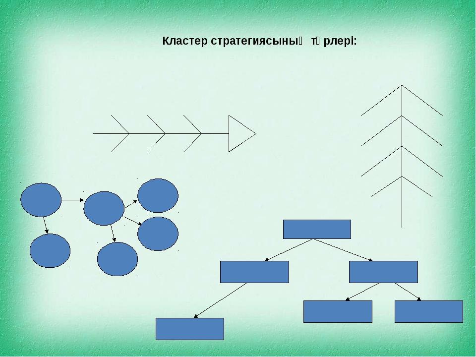 Кластер стратегиясының түрлері: