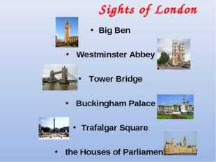 Sights of London Big Ben Westminster Abbey Tower Bridge Buckingham Palace Tra