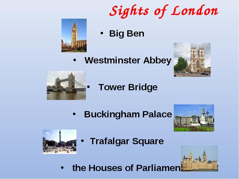 Sights of London Big Ben Westminster Abbey Tower Bridge Buckingham Palace Tra...