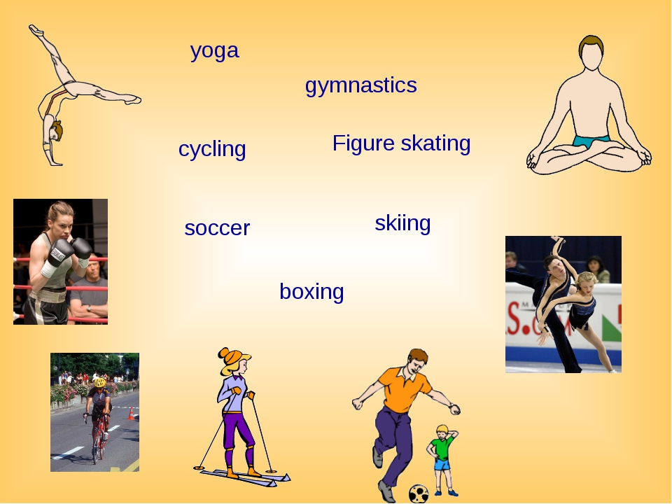 soccer skiing boxing gymnastics yoga cycling Figure skating