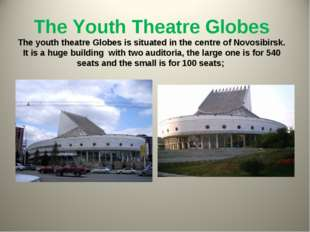 The Youth Theatre Globes The youth theatre Globes is situated in the centre o