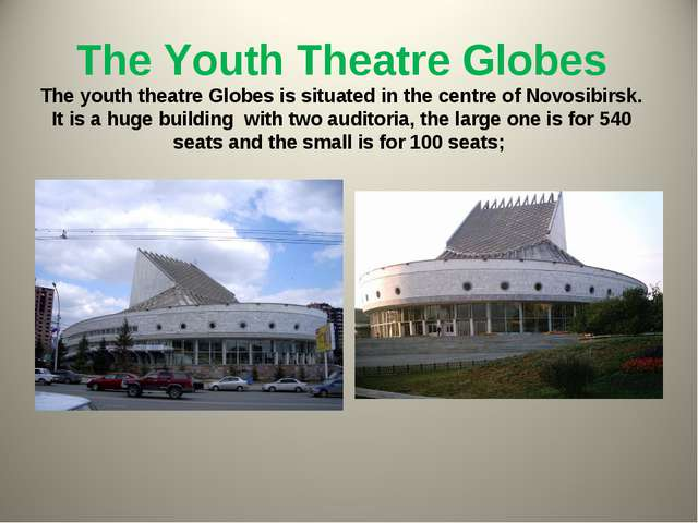 The Youth Theatre Globes The youth theatre Globes is situated in the centre o...