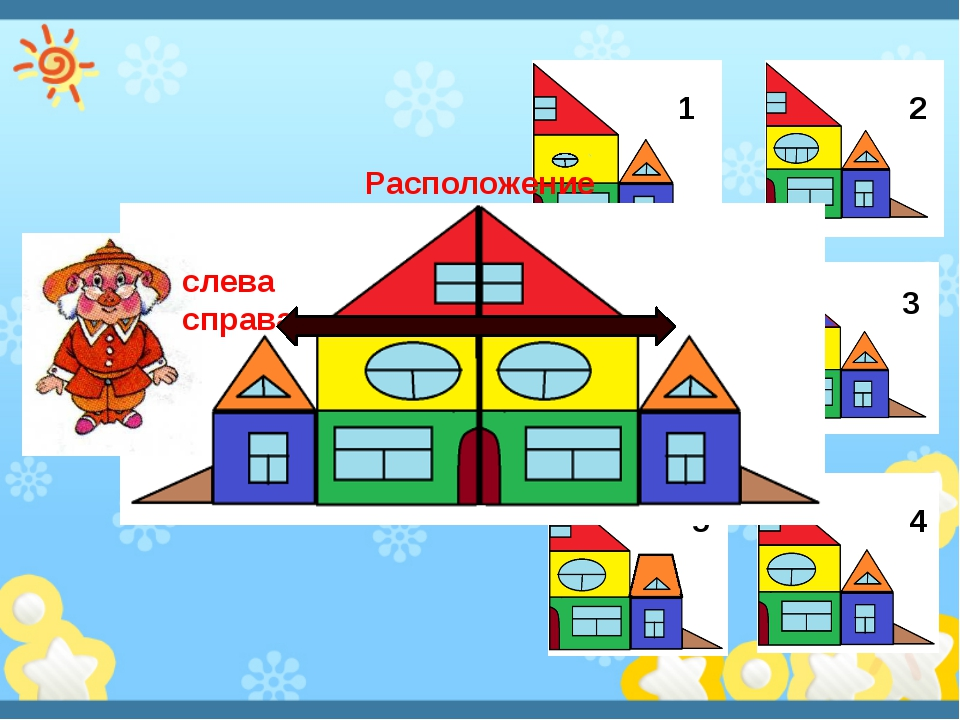 Цвет Форма Количество Размер 1 2 3 4 5 слева справа Расположение