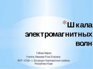 Габова Мария Учитель Ивашева Роза Егоровна МОУ «СОШ» с. Богородск Корткеросск