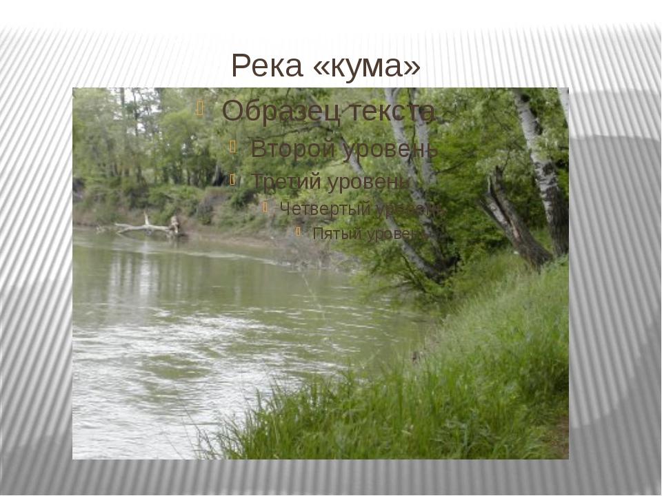 Река «кума»