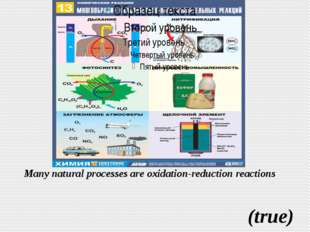 Many natural processes are oxidation-reduction reactions (true)