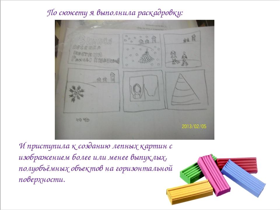 По сюжету я выполнила раскадровку: И приступила к созданию лепных картин с из...
