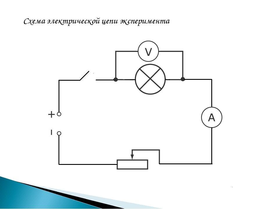 Схема электрической цепи эксперимента