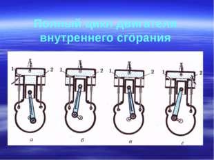 Полный цикл двигателя внутреннего сгорания