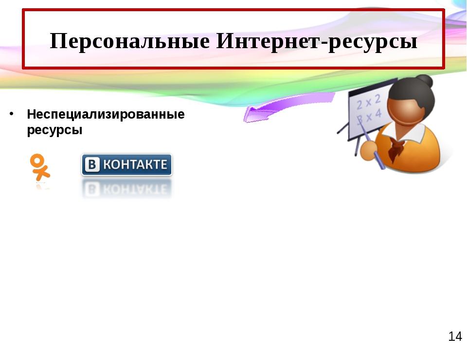 Персональные Интернет-ресурсы Неспециализированные ресурсы Таблички кабинетов