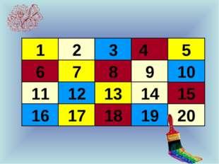 1 2 6 3 4 5 7 8 9 14 15 10 11 12 13 16 17 18 19 20