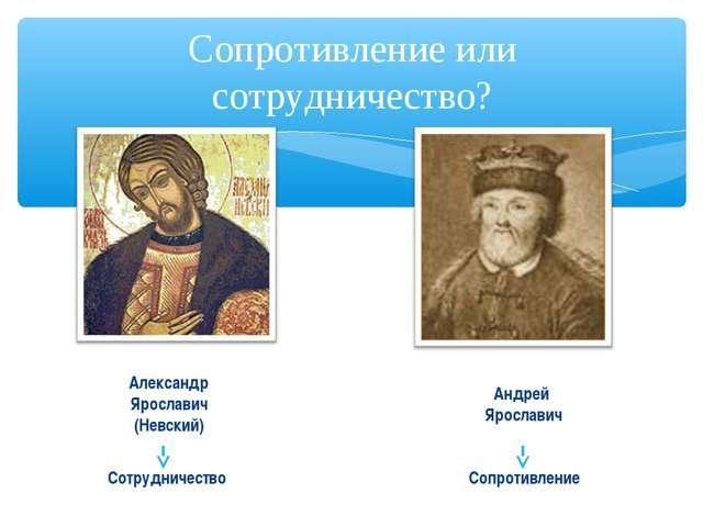 Сопротивление или сотрудничество? Александр Ярославич (Невский) Андрей Яросла...