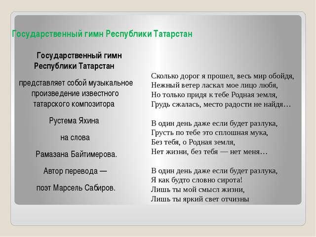 Государственный гимн РеспубликиТатарстан Государственный гимн РеспубликиТа...